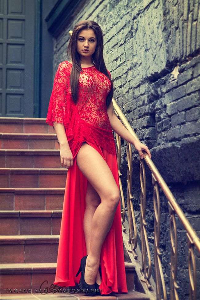 Sexy Lady In Red