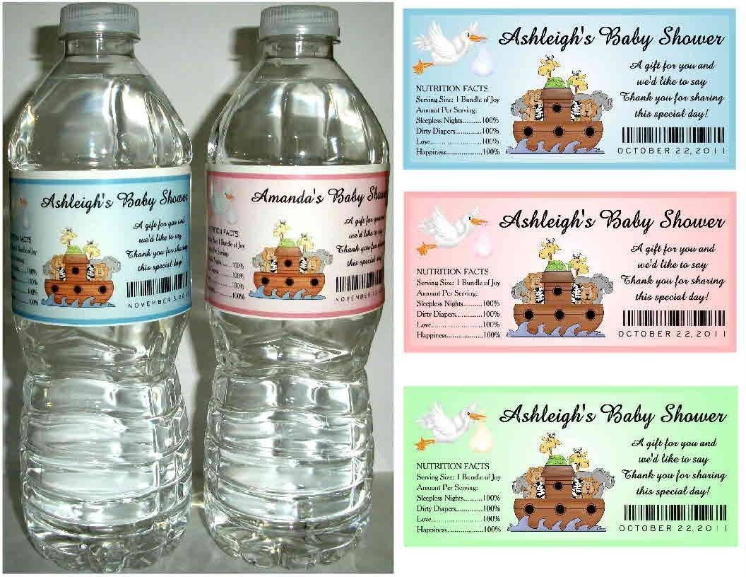noahs ark baby shower ideas for baby shower party. 20 Noahs Ark Baby Shower Favors Water Bottle Labels Glossy Waterproof | EBay Ideas For Party