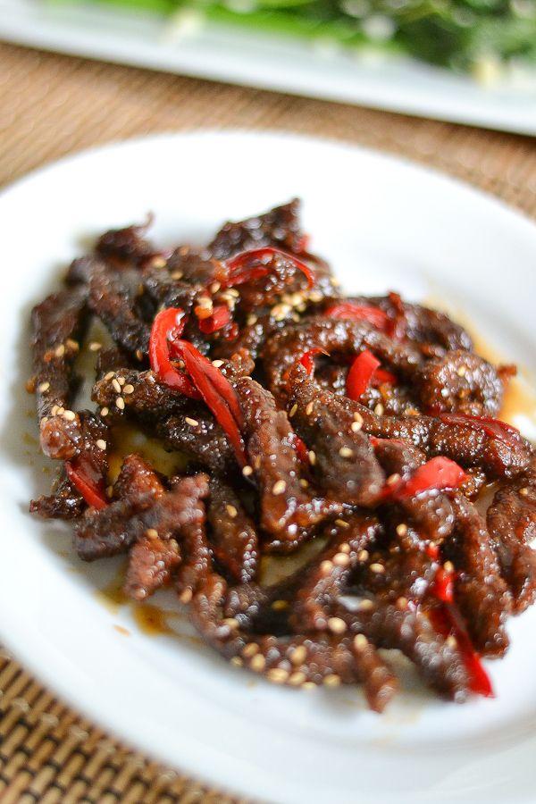 Crispy Beef With Honey And Pepper Salu Salo Recipes Recipe Crispy Beef Stuffed Peppers Beef Recipes