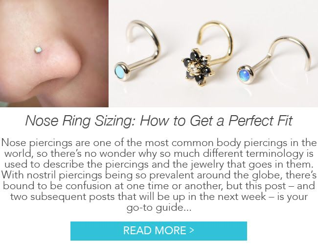 Nose Ring Sizing How To Get A Perfect Fit Nose Hoop Sizes Nose