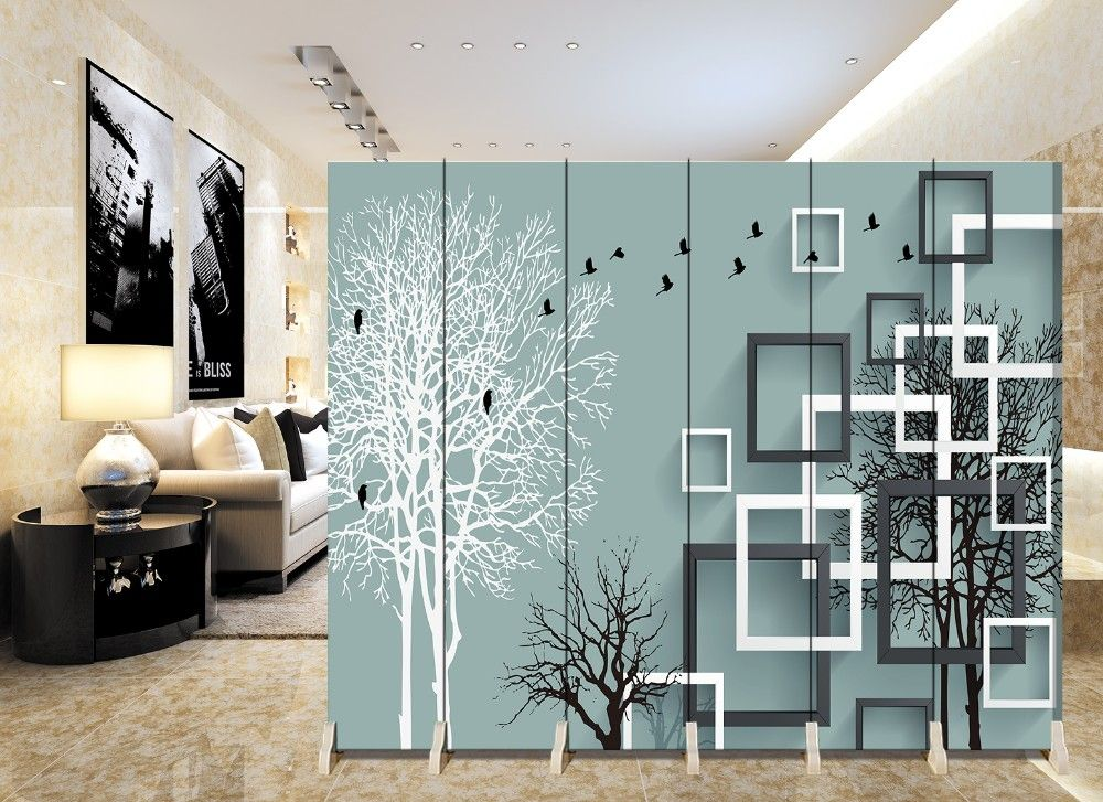 Wooden Room Divider Home Decor