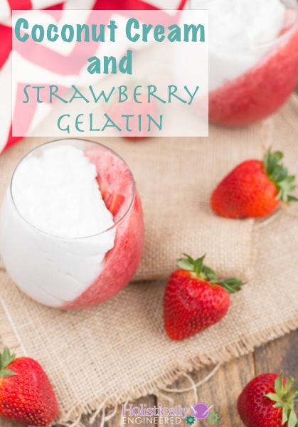 Coconut Cream And Strawberry Gelatin Recipe With Images