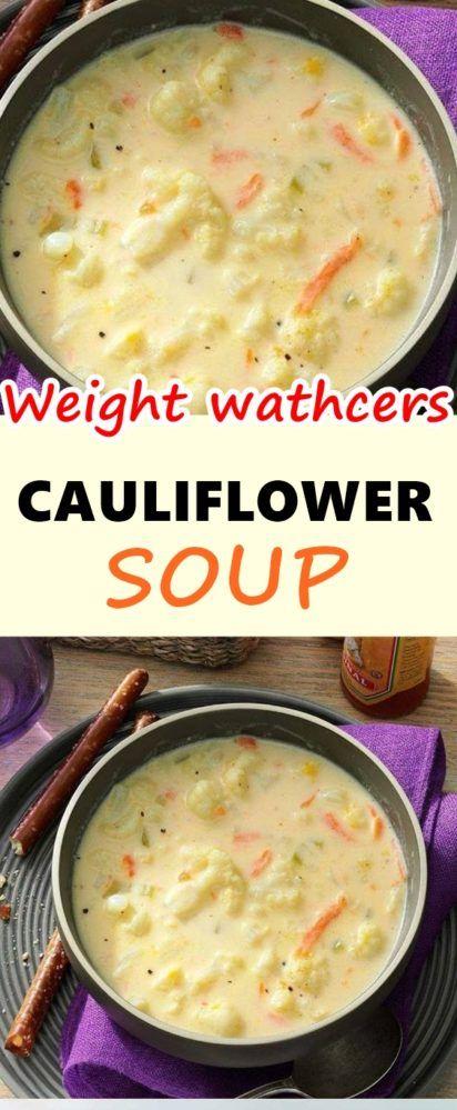 Photo of CAULIFLOWER SOUP – Weight Watchers Recipes