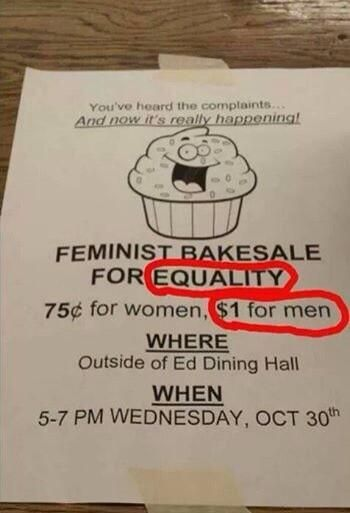 If you say that this isn't fair, remember that when it comes to paying men and women for equal work, this is widely accepted