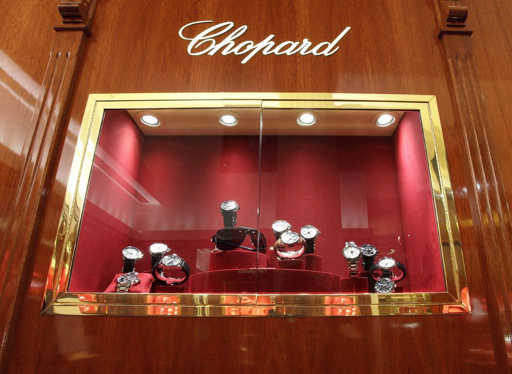 AVR White LED Display Cabinet Lighting at Chopard Jewellery Shop & AVR White LED Display Cabinet Lighting at Chopard Jewellery Shop ... azcodes.com