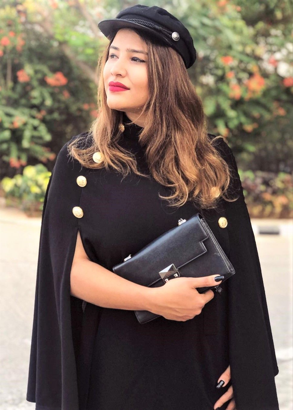 a555931c0f SHEIN Black Highstreet Office Lady Double Button Mock Poncho Solid Elegant  Coat