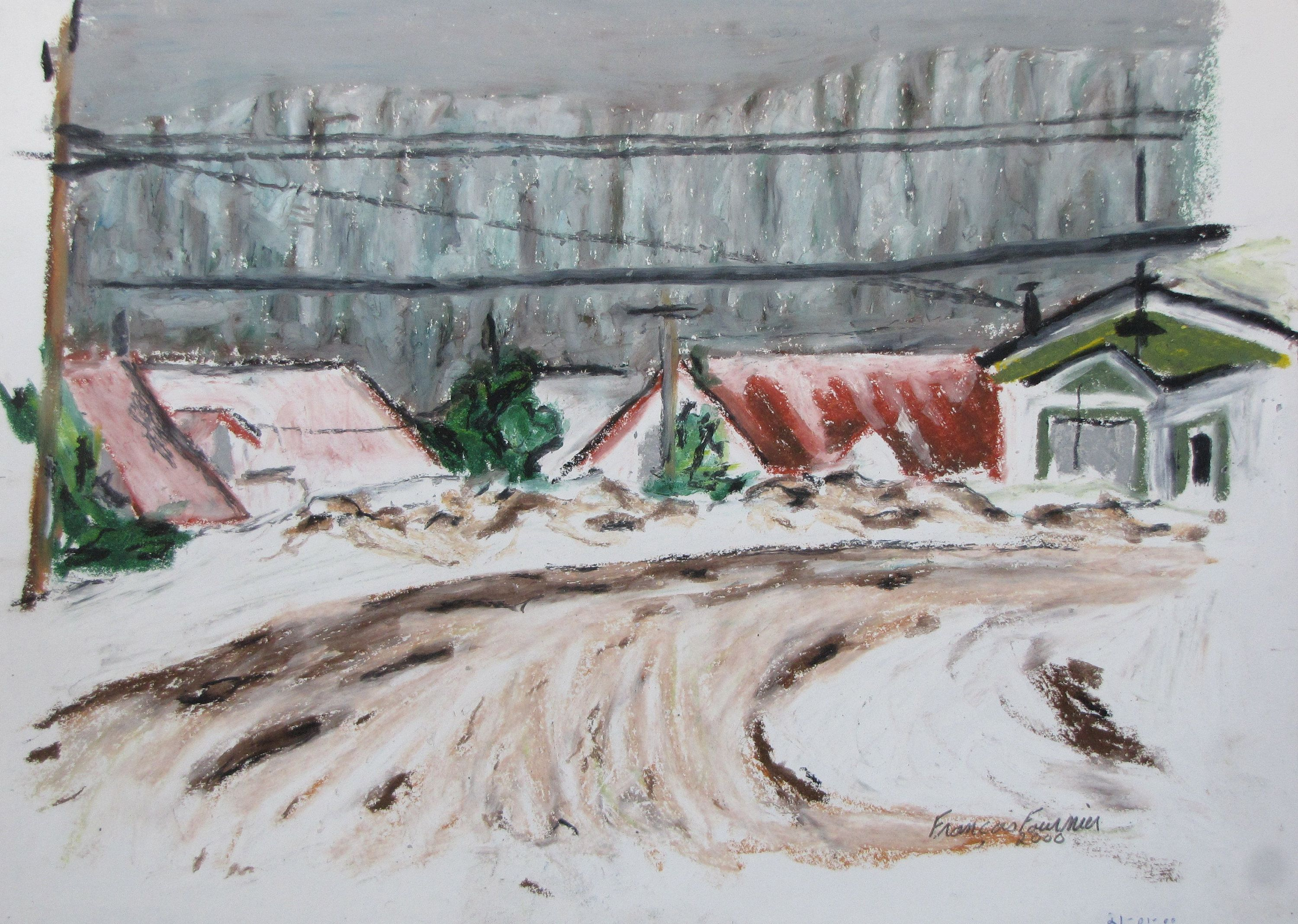 Oil Pastel Painting Impressionist Painting Fournier Plein Air Painting Outdoor Painting Winter In The Appalachian Original Painting