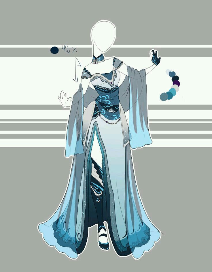 Japanese Queen Clothes Design Anime Outfits Art Clothes
