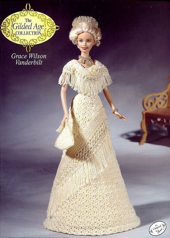 Grace Wilson Vanderbilt, Annie's Attic Fashion Doll Clothes Crochet Pattern Booklet 8711 The Gilded Age Collection