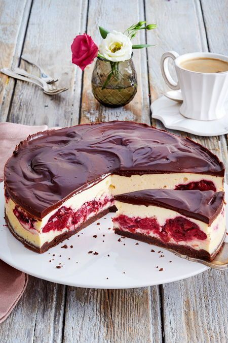 Schwarzwälder-Käse-Torte Rezept | LECKER #cheesecakes