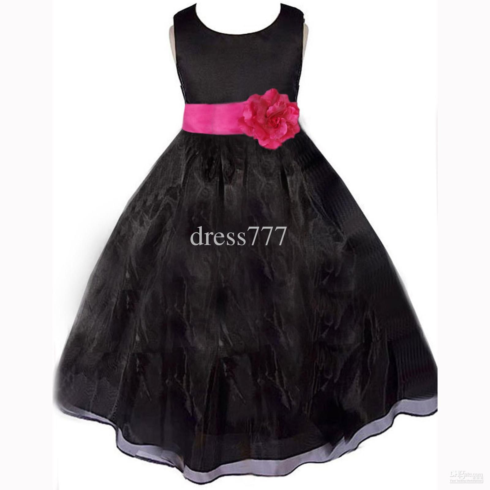 Wholesale girl dress buy black fuchsia hot pink bridal wedding wholesale girl dress buy black fuchsia hot pink bridal wedding formal flower girl dress 12 ombrellifo Gallery