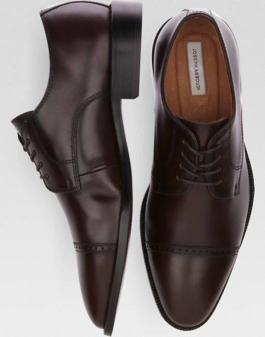 3f6c7afd03cb Joseph Abboud Calvin Burgundy Cap Toe Lace Up Shoes