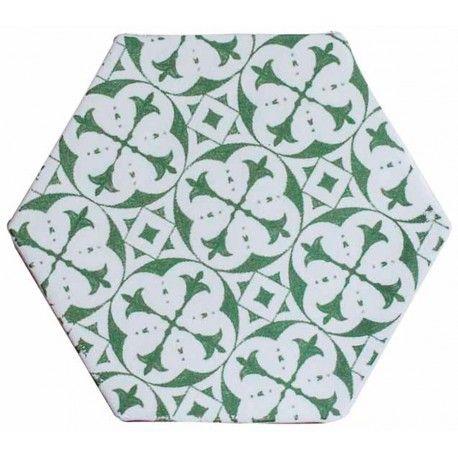 carrelage hexagonal mat vert 15 x 15 cm he0811014. Black Bedroom Furniture Sets. Home Design Ideas