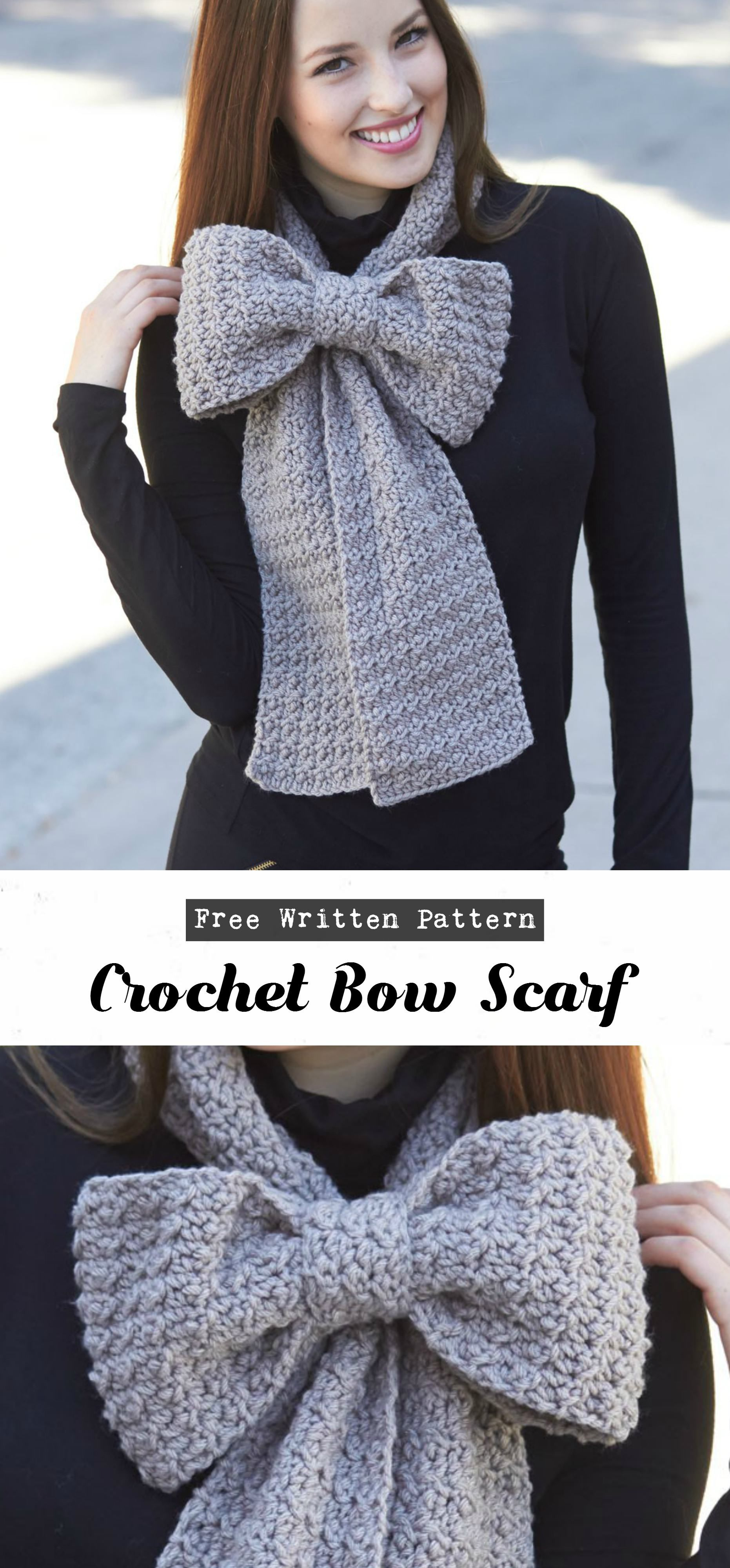 Crochet Bow Scarf   Häkeln