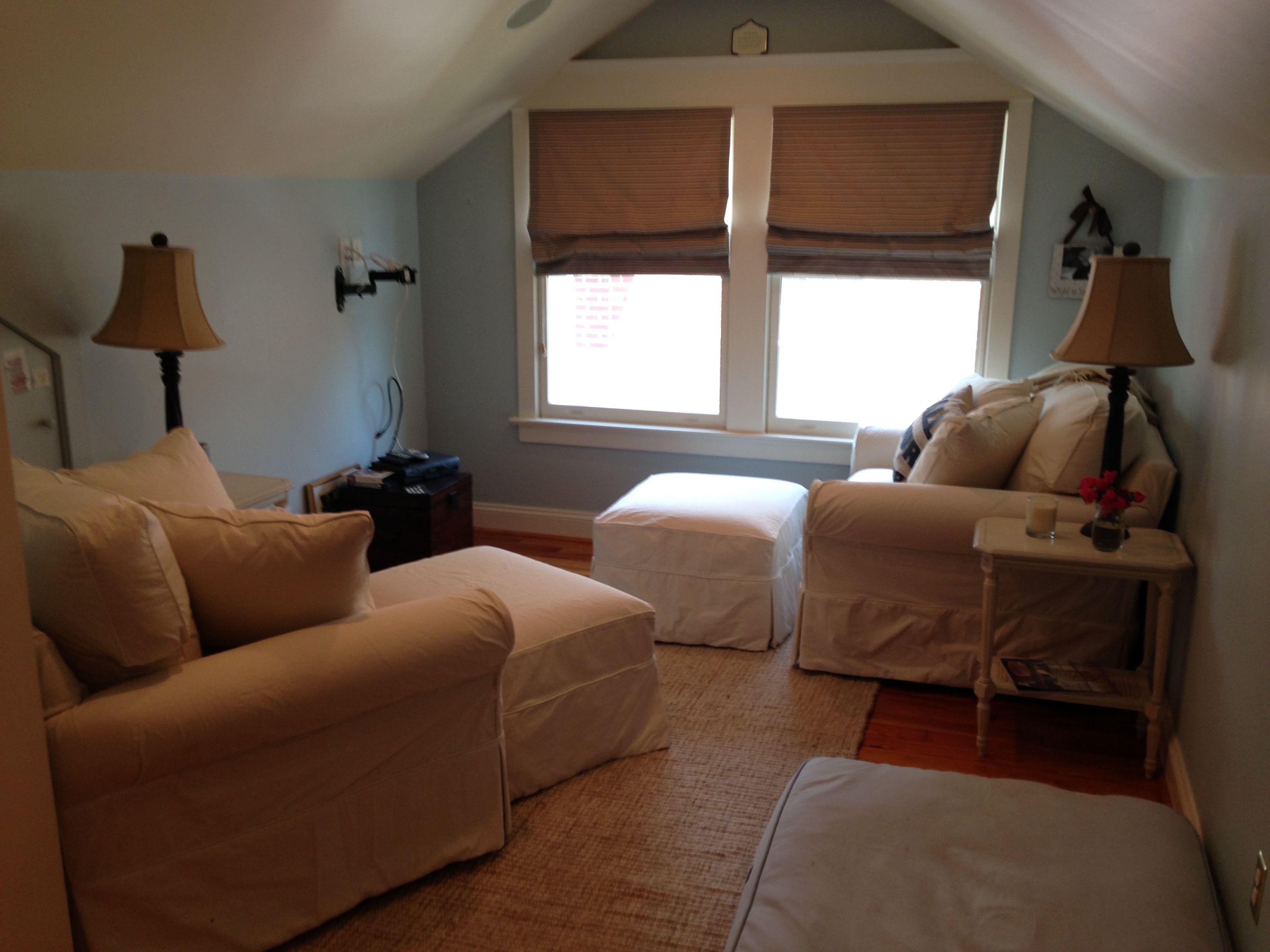 Master bedroom sitting room. (TV still needs to be