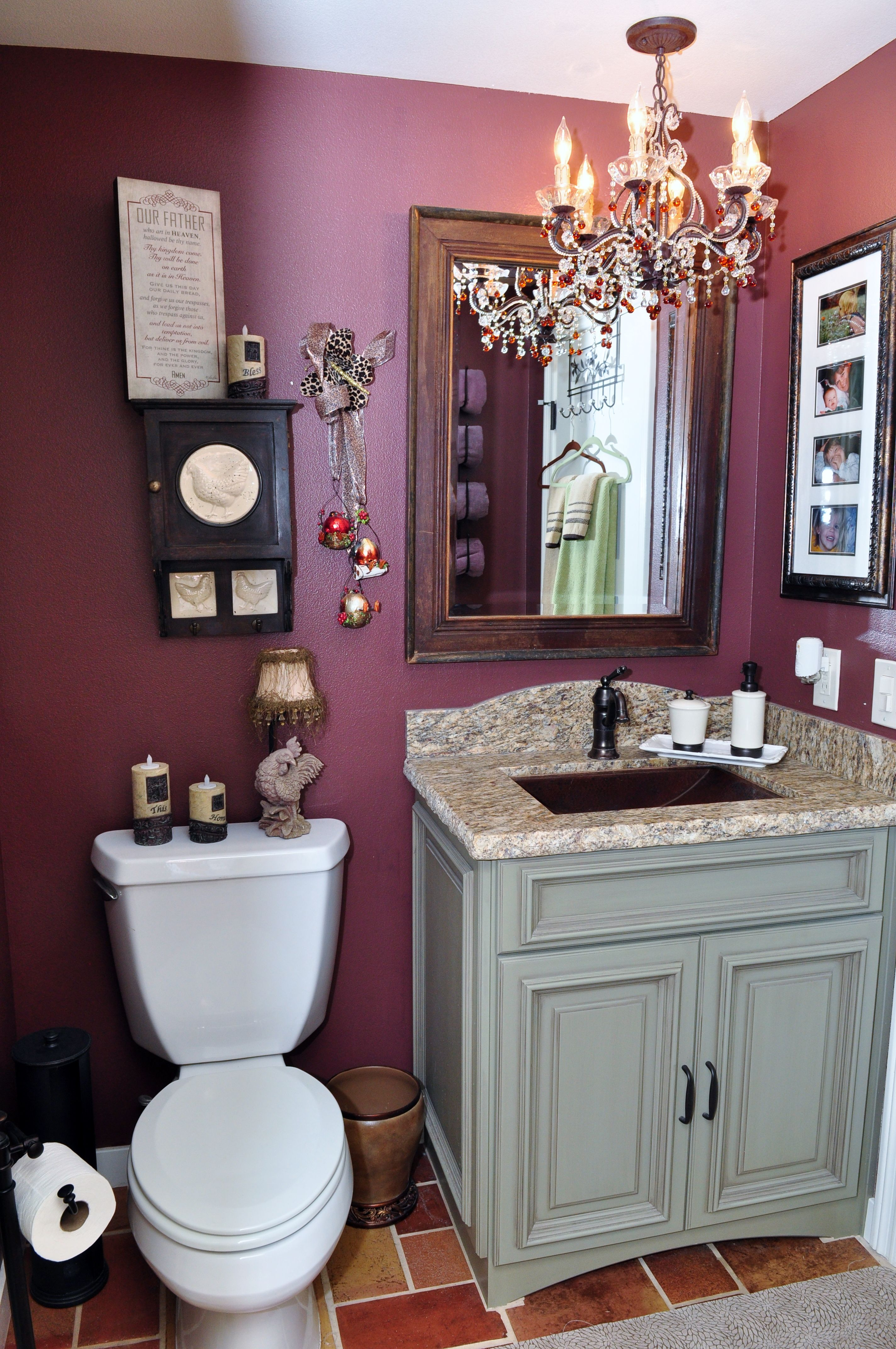 Vanity done in Maple Wood with a Pesto Hazlenut finish accented with ...