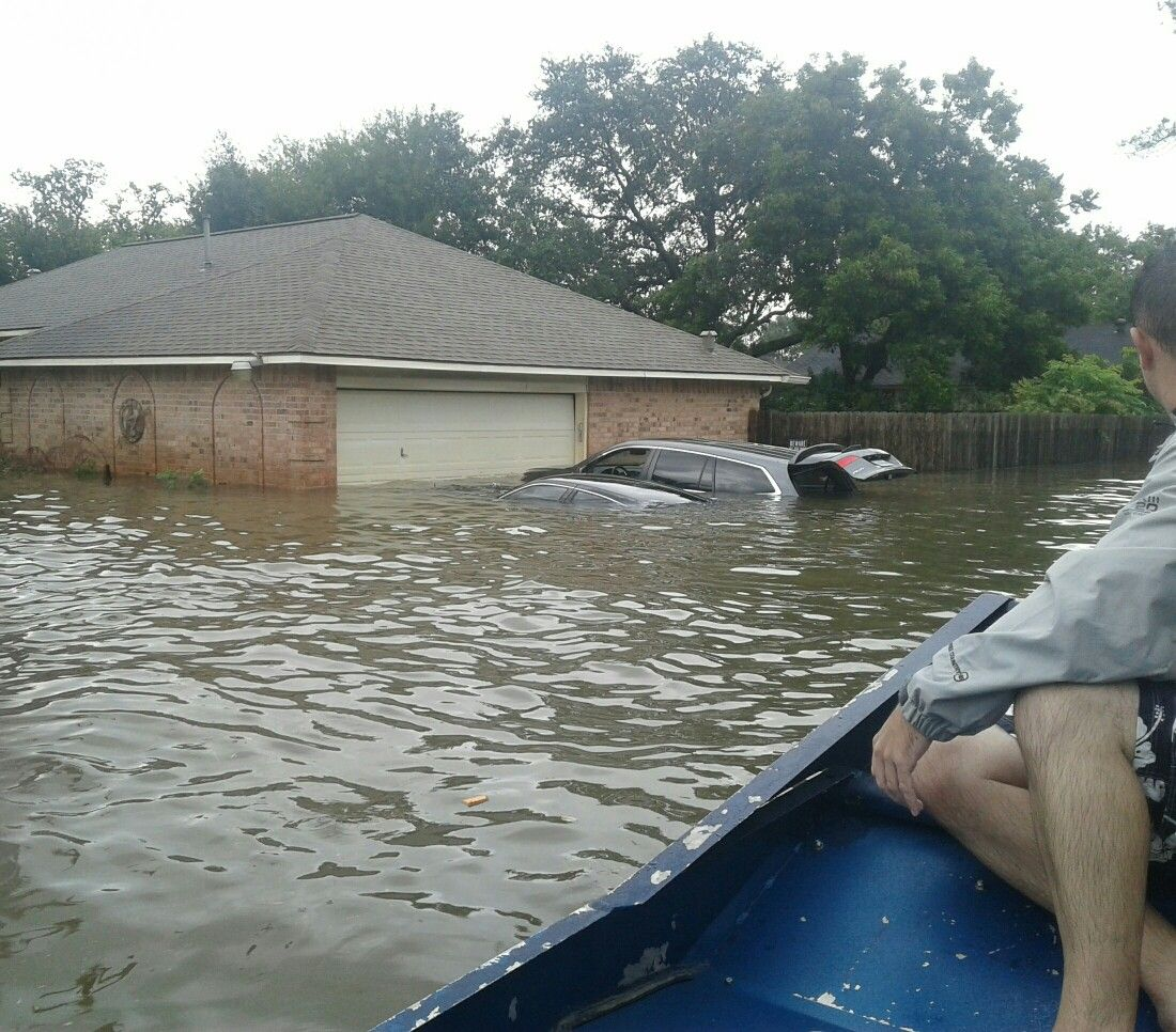 Friendswood Texas Neighborhood During Hurricane Harvey Photo Taken From An Airboat Rescue Boat August 27th 2017 Natural Disasters Wild Weather Texas Coast