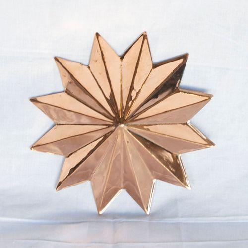 Sold Out C12054 Copper Star Wall Decor 7 X 7 Copper
