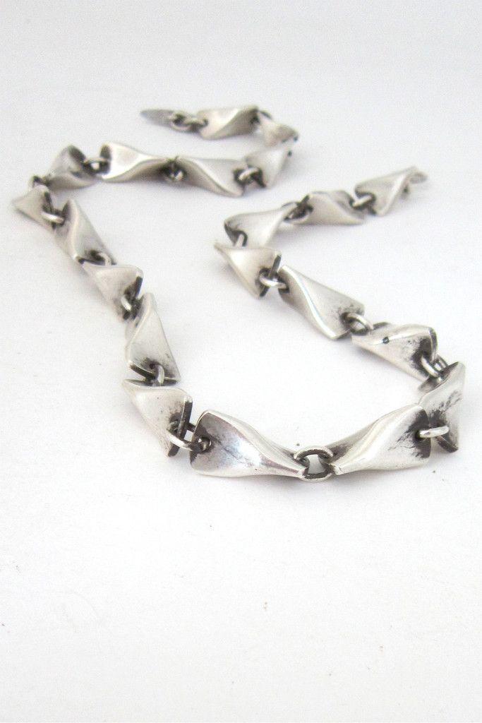 Georg Jensen Butterfly Necklace Modernist Jewelry Vintage Modernist Jewelry Georg Jensen Jewelry