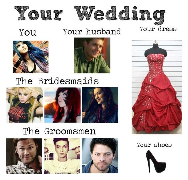 """""""My wedding (Supernatural style)"""" by digital-minerva ❤ liked on Polyvore featuring Shoe Republic LA"""