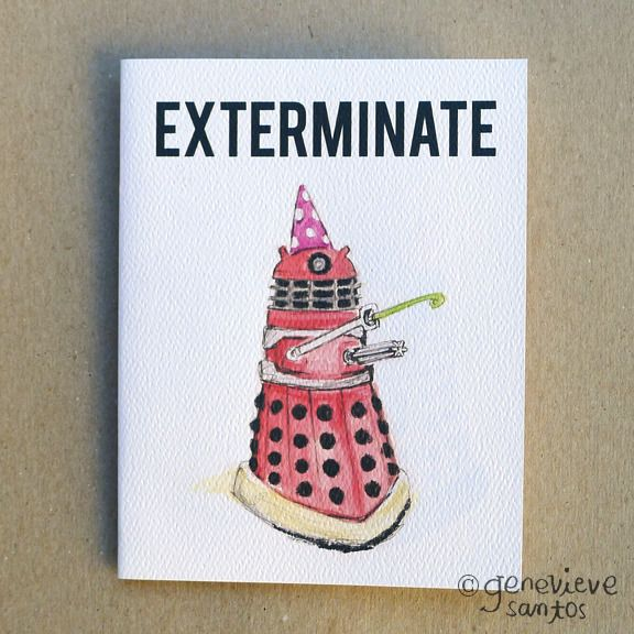 Image Of Exterminate The Candles Dalekdoctor Who Birthday Card