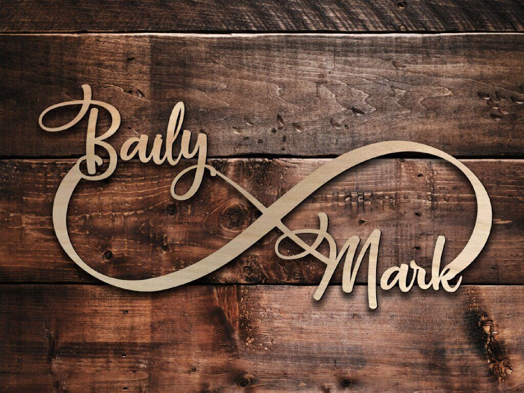 Personalized Infinity Wood Sign Custom Infinity Wooden Sign Etsy Wedding Wall Art Wedding Wall Wooden Signs