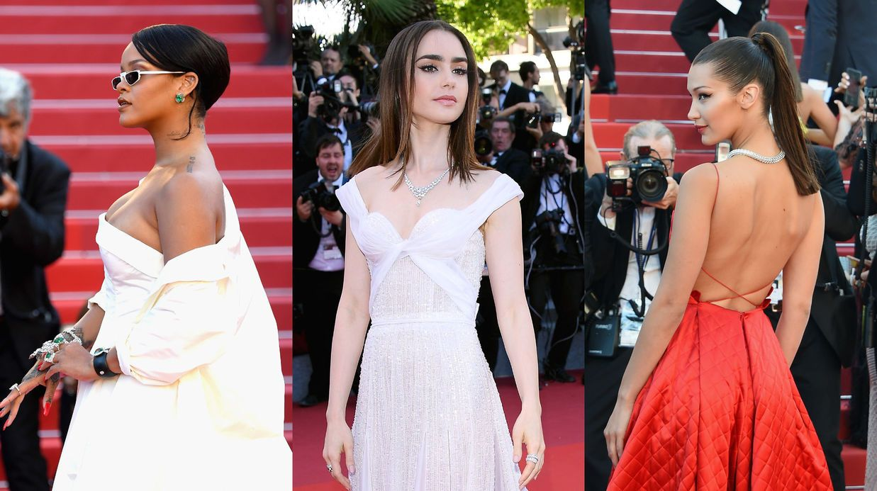PHOTOS Cannes 2017 : Rihanna En Robe Bustier Sexy, Dos Nu