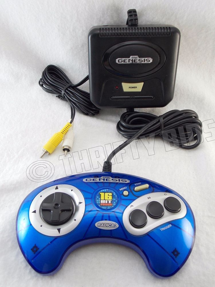 ff3c20511d2e46923b949ef24284515f radica sega genesis 6 in 1 plug n play tv game system blue playtv  at n-0.co