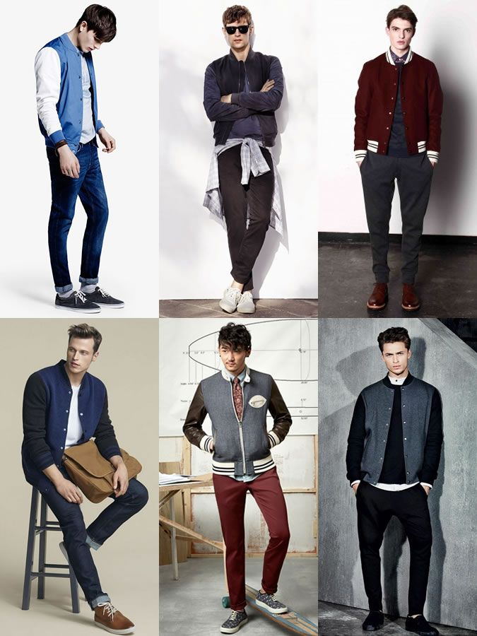 330f67147eec Men s Transitional Outerwear - The Varsity Jacket - Outfit Inspiration  Lookbook http   www