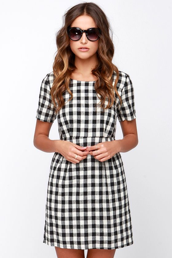 42++ Black and white plaid dress ideas in 2021