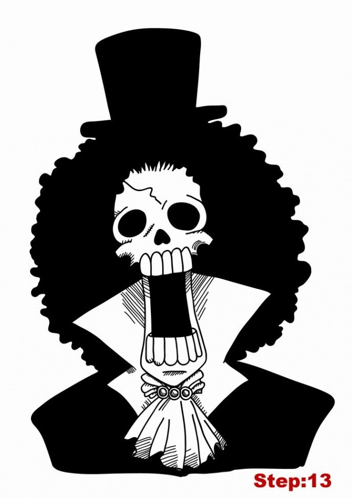 How To Draw Brook From One Piece Dessin Les Oeuvres Creations
