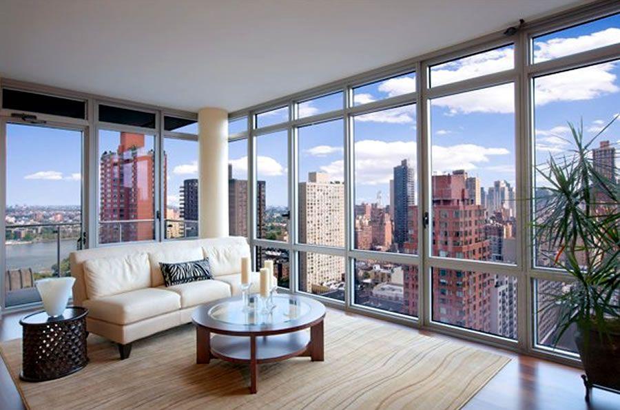 New York Living Room Design Living Room Furniture Design Azure Uptown Manhattan New York Appartement Woonkamer Woonkamer Luxe Appartementen