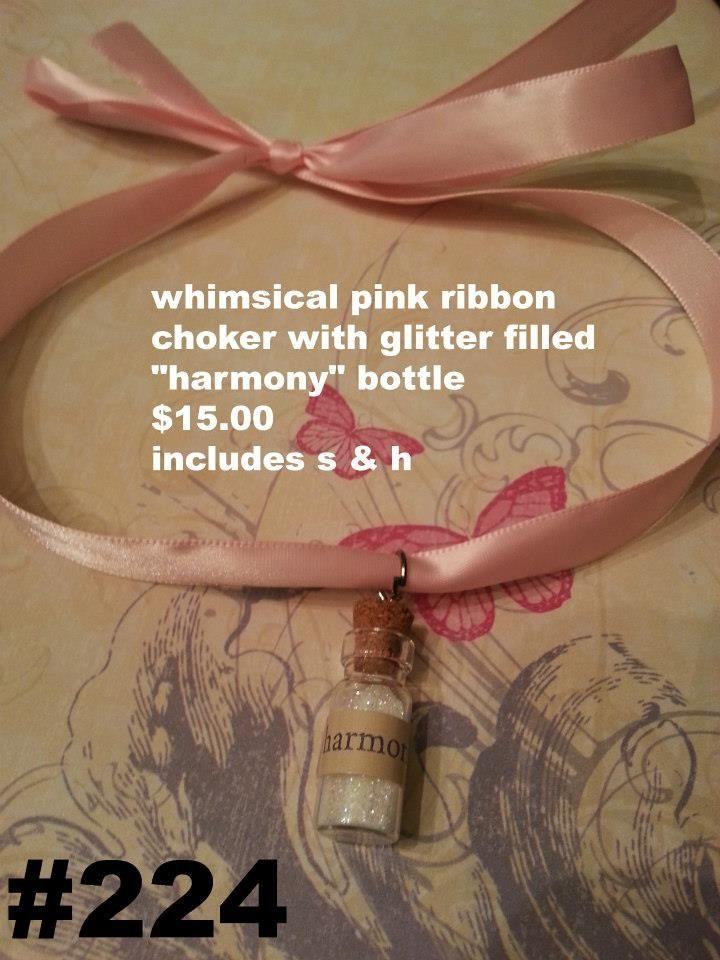 Whismical choker with 'Harmony bottle' charm, $15.00