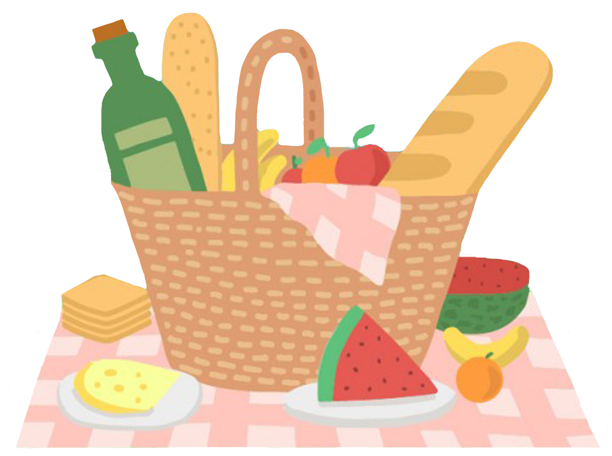 Picnic Basket Clipart family picnic food Family picnic