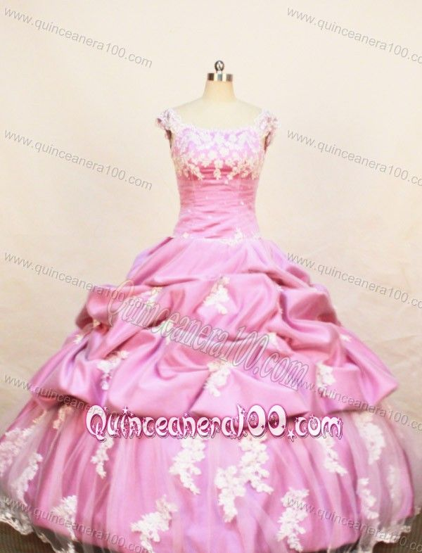 Rose Pink Little Girl Pageant Dresses With Appliques Pick-ups and ...