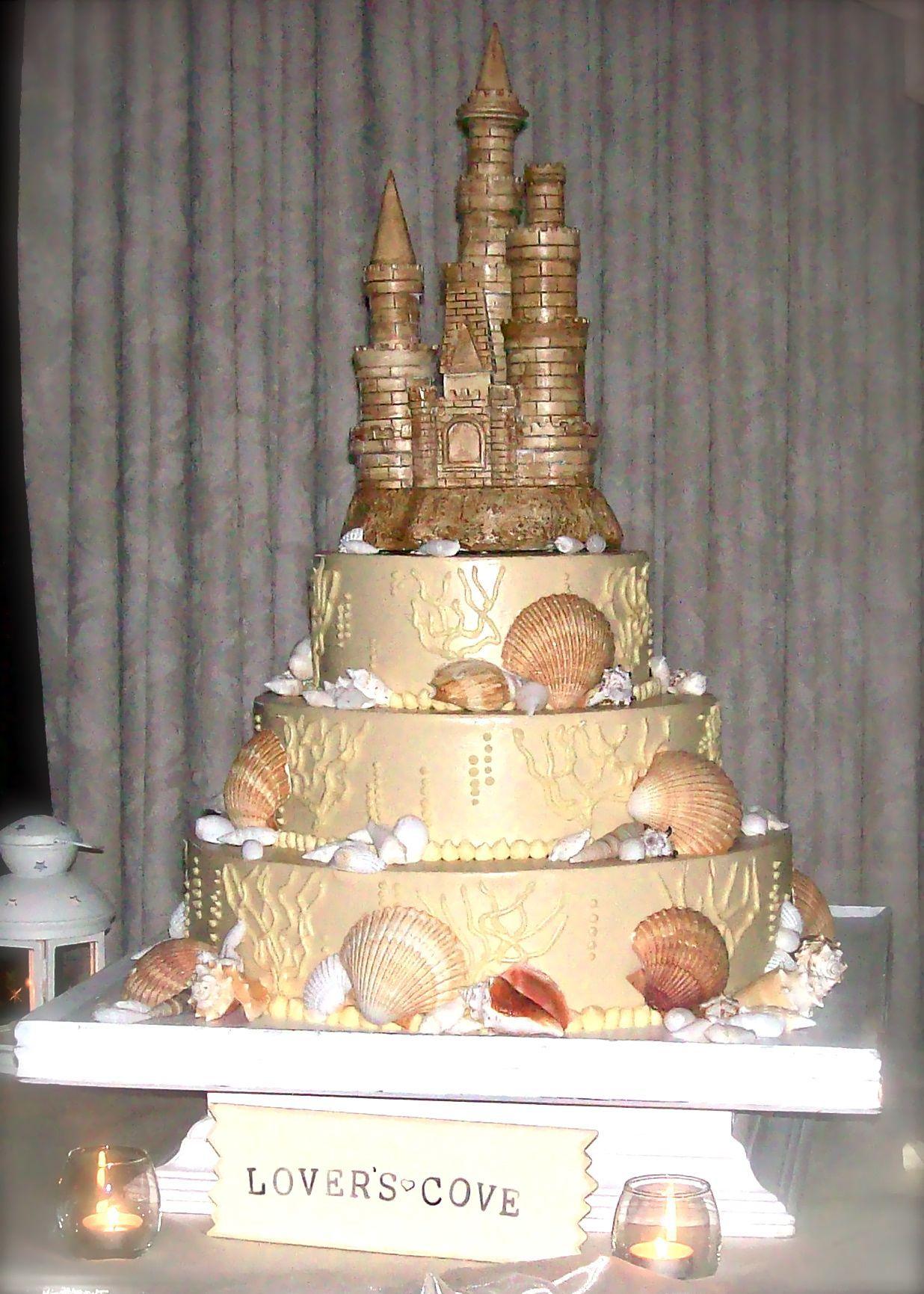 wedding cakes in lagunbeach ca%0A My Sand Castle wedding cake by Savoie u    s Fare  Orange County  Beach Wedding   Laguna
