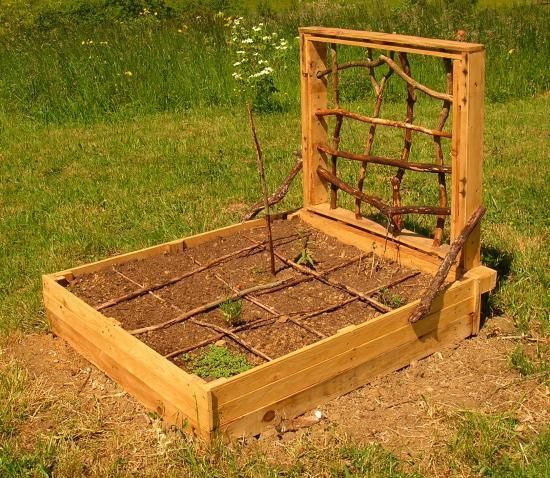 potager en carr palettes recycl es traitement naturel co jardinage jardin d co ext. Black Bedroom Furniture Sets. Home Design Ideas