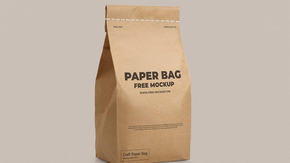 Download Free Simple Paper Bag Flour Packaging Mockup Free Package Mockups Free Mockup Packaging Mockup Bag Mockup