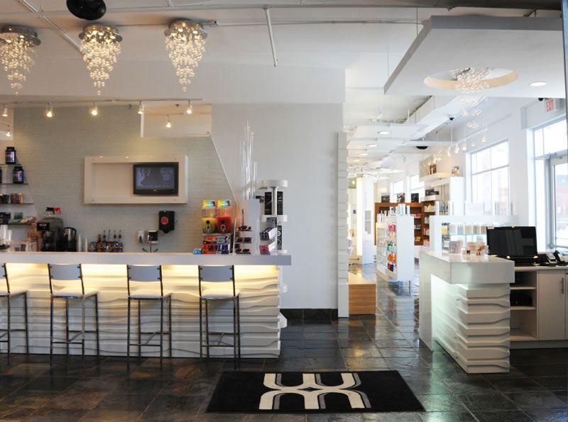 Hair salon interiors photos for Beauty salon usa