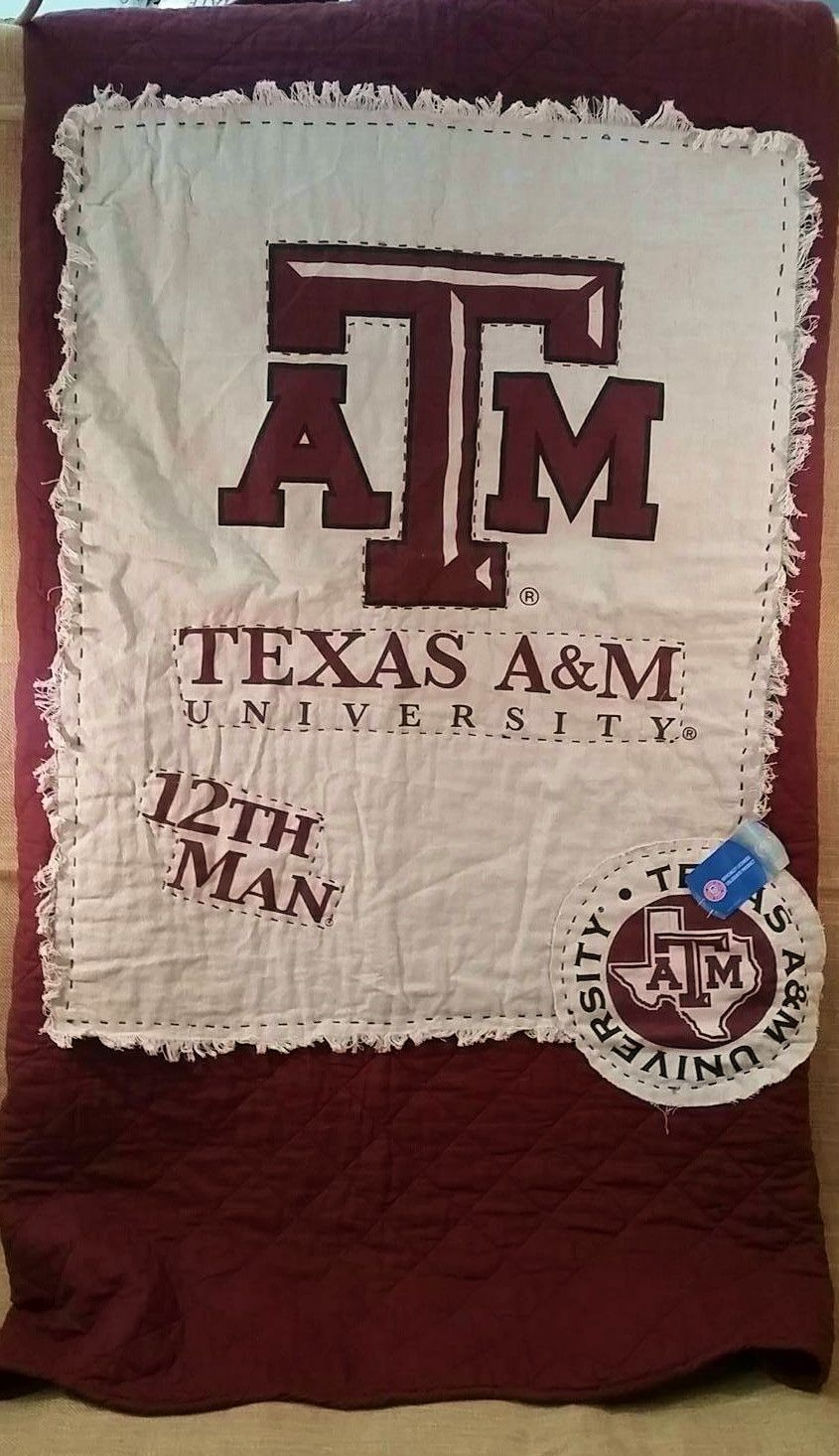 Texas A&M College Quilt #GigemAggies