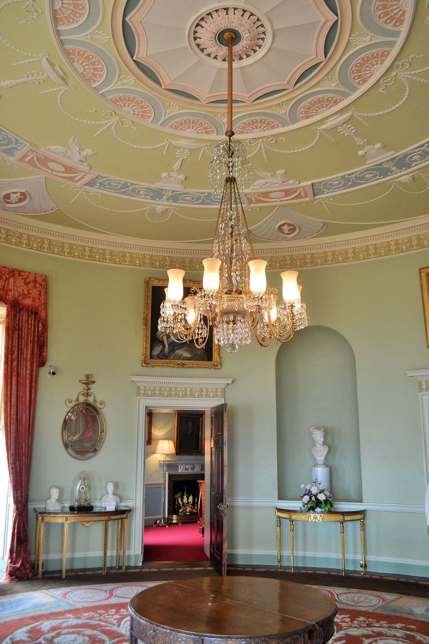 Castle Drawing Room: Ceiling Color Design, Inside