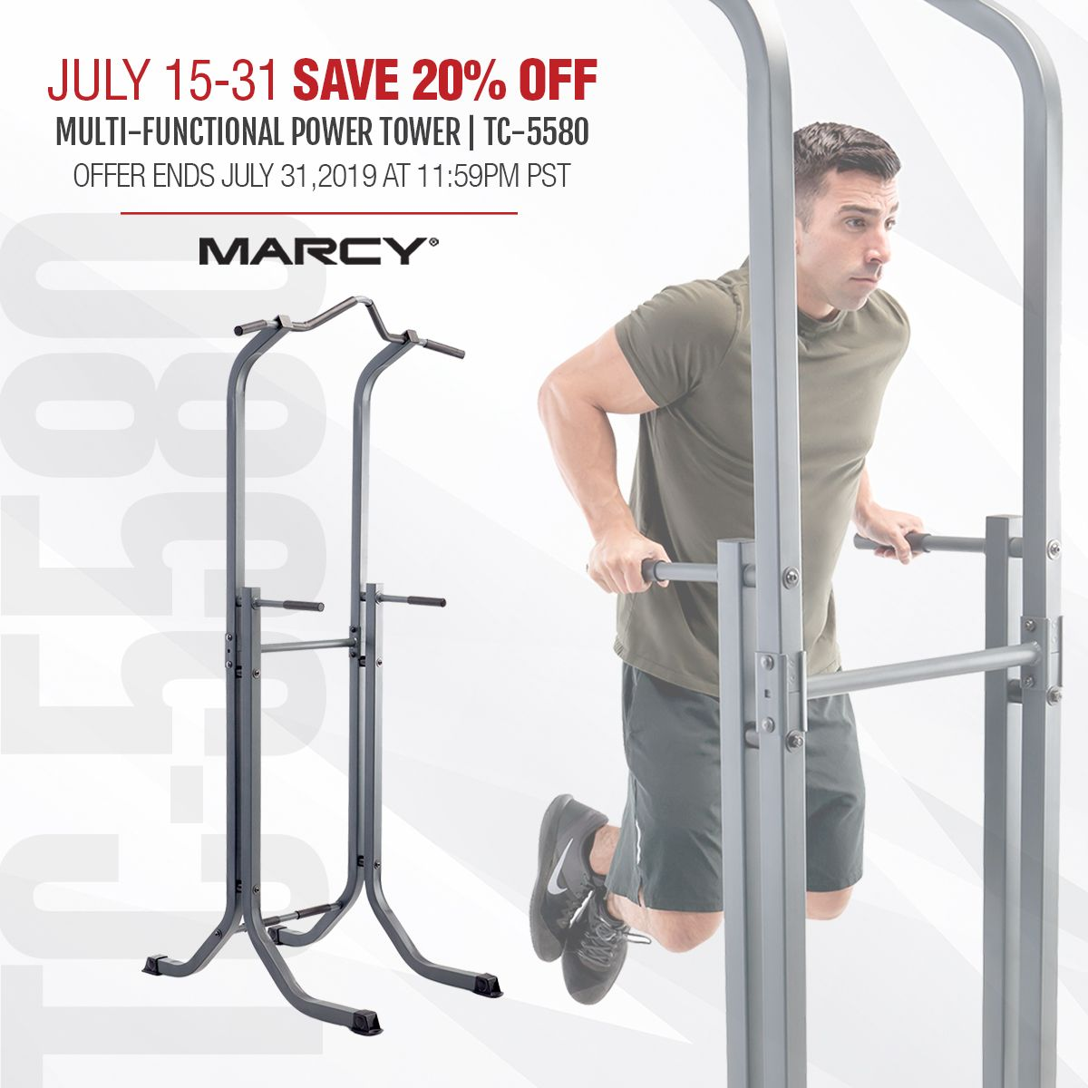 Marcy Power Tower Multi Functional Home Gym Dip Station Tc 5580 Power Tower Upper Body Strength Home Gym