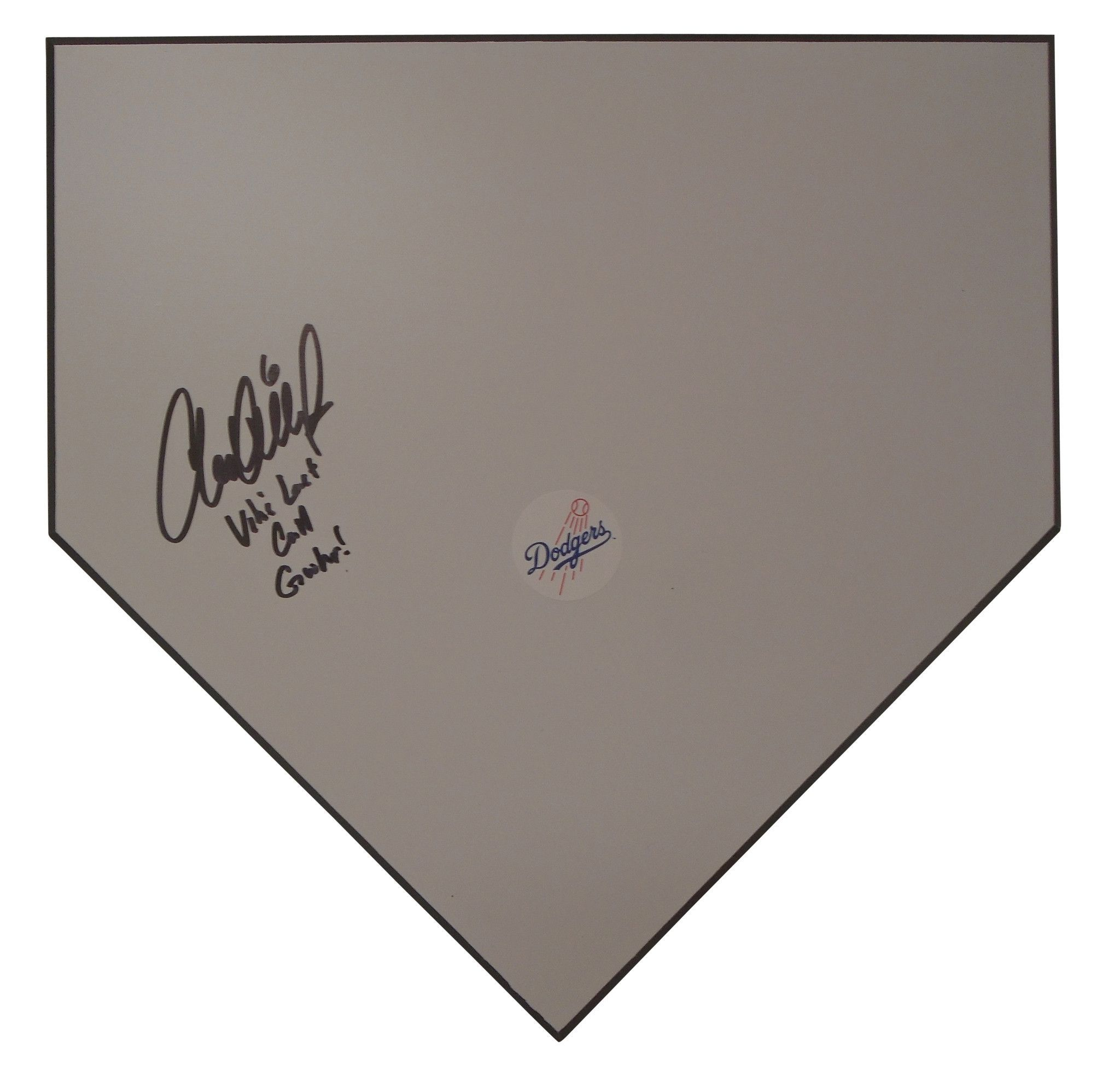 Charlie Culberson Autographed Los Angeles Dodgers Home Plate w/ Inscription, Proof Photo