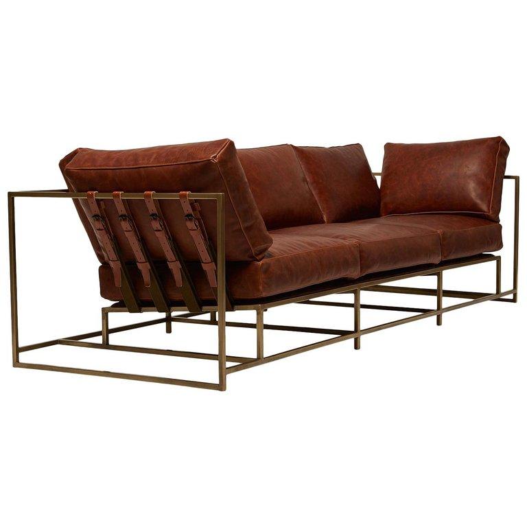 Stephen Kenn Leather, Steel Auburn Antique Brass Modern
