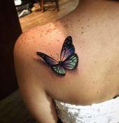 Photo of Wunderbare weibliche Schmetterling Tattoo Design – Schmetterling Tattoos für Fr…