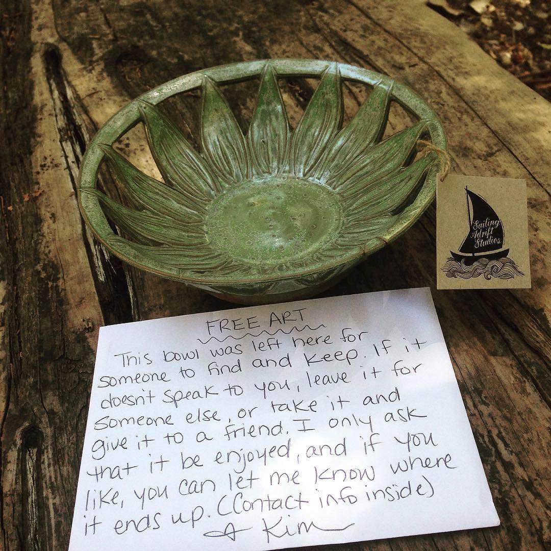 Art drop on a bench near a trail jonestown tx by sailing