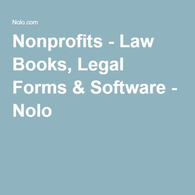 Nonprofits law books legal forms software nolo legal nonprofits law books legal forms software nolo legal software pinterest law books and software solutioingenieria Image collections