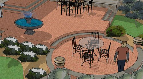 Patio Shapes and Layouts   Landscape plans, Patio plans ... on Garden Patio Designs And Layouts id=78897