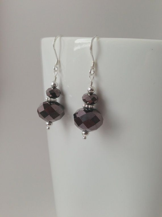 Chocolate Brown Crystal and Sterling Silver by TheBeadtiqueJewelry, $22.00
