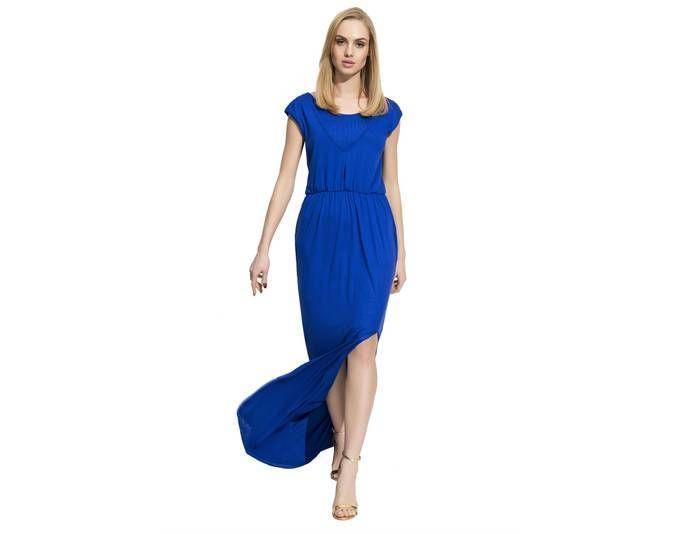 Damen Elegantes Kleid Maxikleid Abendkleid Cocktailkleid mit Schlitz ...